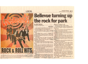 Bellevue turning up the rock for park