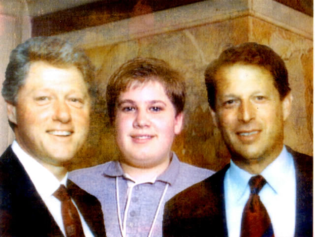 Scott with Bill Clinton and Al Gore