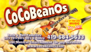 cocobeans cheerios business card