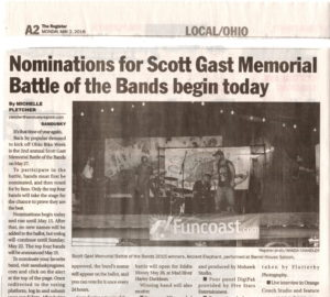 2016 SCOTT GAST MEMORIAL BATTLE OF THE BANDS NOMINATIONS